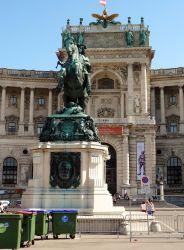 Wenen 184 Heldenplatz Monument van Prins Eugene