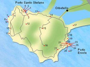 Toerische rondrit op schiereiland Monte Argentario