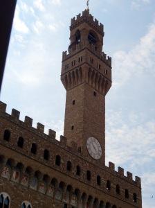 147 Florence Palazzo Vecchio Opvallend aan het gebouw is de hoge toren. Deze heeft een hoogte van 95 meter.
