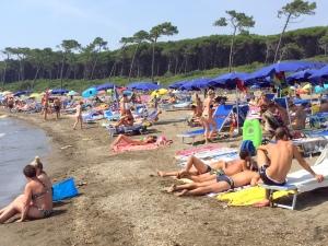 249 Mareblu strand op zaterdag