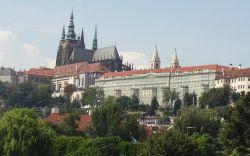 002 boottocht over de Moldau Praagse Burcht