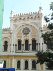 044 Spaanse synagoge Spanelska Synagoga, gebouwd in Moorse atijl