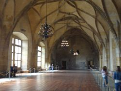 089  Praagse Burcht Old Royal Palace sw Vladislav Hall wordt gebruikt voor inhuldigingen