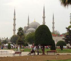 ist 001 Sultanahmet Cami, Blauwe moskee met haar 6 minaretten.